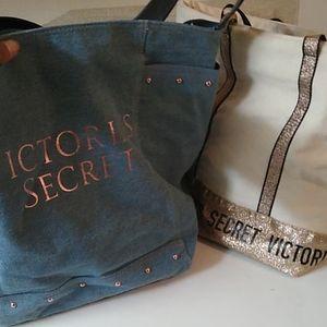 Two Victoria secret totes